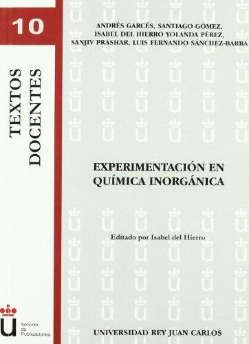9788498494013: Experimentación En Química Inorgánica (Colección Textos Docentes)