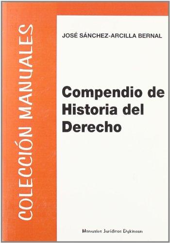 9788498494464: Compendio de Historia del Derecho (Colección Manuales Jurídicos)