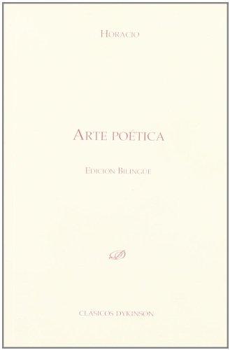 9788498498837: Arte poética. Edición bilingüe (Colección Clásicos Dykinson)