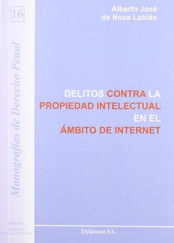 9788498498936: Delitos contra la propiedad intelectual en el ambito de internet / Intellectual Property Crime in the Area of Internet: Monografias De Derecho Penal / Criminal Law Monographs (Spanish Edition)