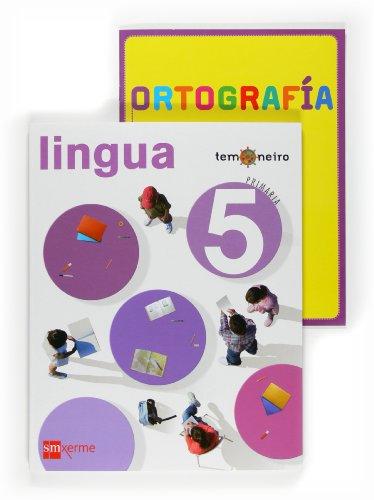 9788498541526: Lingua. 5 Primaria. Proxecto Temoneiro