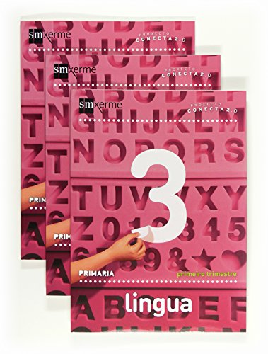 9788498543384: Lingua. 3 Primaria. Conecta 2.0. Trimestres - 9788498543384