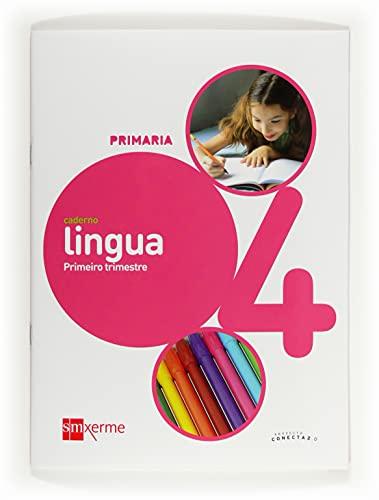 9788498543452: Caderno de lingua. 4 Primaria, 1 Trimestre. Conecta 2.0 - 9788498543452