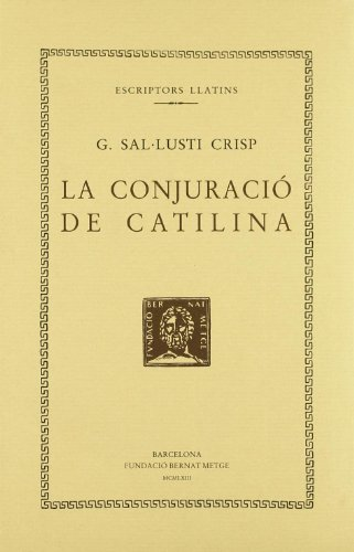 9788498590388: La conjuració de Catilina (Bernat Metge)