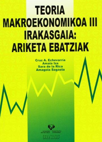 9788498602128: Teoria makroekonomikoa III irakasgaia: ariketa ebatziak