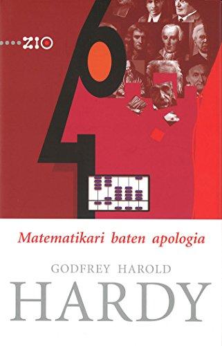 9788498604245: Matematikari baten apologia (Zientzia Irakurle Ororentzat - ZIO)