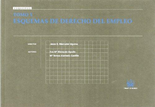 9788498760644: Tomo X Esquemas de Derecho del Empleo
