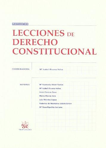 9788498762402: Lecciones de Derecho Constitucional