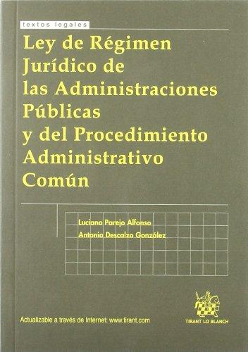 9788498763553: Ley de regimen juridico de las amdinistraciones publicas y del p.a. comun