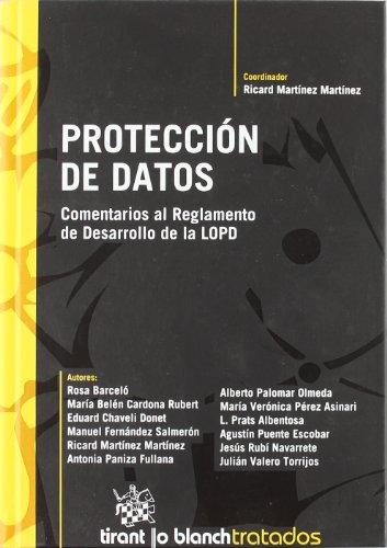 9788498763560: Proteccion de datos/ Data Protection: Comentarios Al Reglamento De Desarrollo De La Ley Organica De Proteccion De Datos (Spanish Edition)