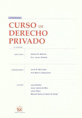 9788498768794: Curso de Derecho Privado