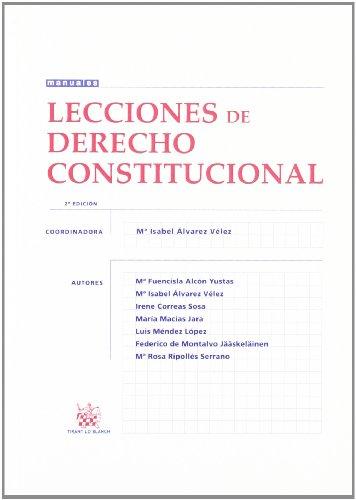 9788498768862: Lecciones de Derecho Constitucional