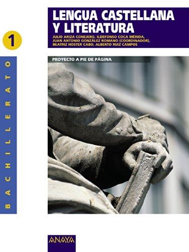 9788498770896: Lengua castellana y literatura 1