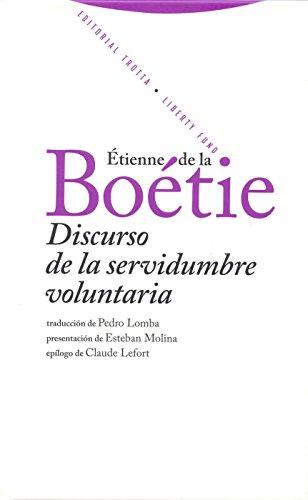 9788498790030: Discurso de la servidumbre voluntaria (Spanish Edition)