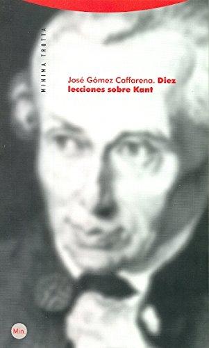 9788498791167: Diez Lecciones Sobre Kant (Minima)