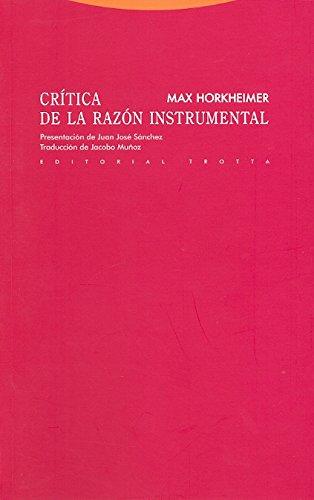 9788498791525: Crítica De La Razón Instrumental - 2ª Edición (Estructuras Y Procesos)
