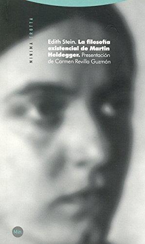 9788498791747: La filosofía existencial de Martin Heidegger (Minima Trotta)