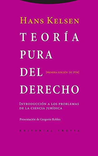 9788498792355: TEORIA PURA DEL DERECHO-INTRODUCCION A LOS PROBLEMAS DE LA C