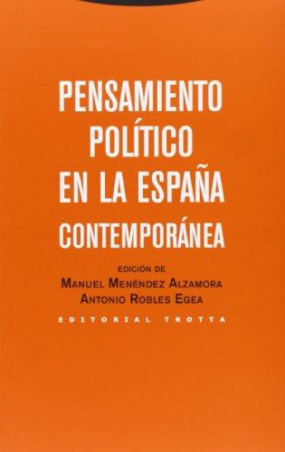 9788498794397: Pensamiento político en la España contemporánea