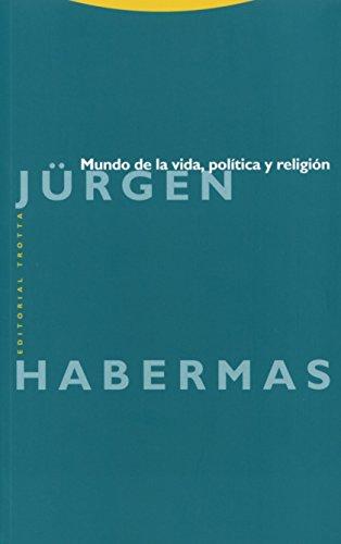 Mundo de la vida, politica y religion.: Habermas, Jurgen