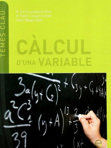 9788498803655: Clcul D'Una Variable