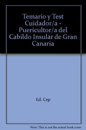 Cuidador/a-Puericultor/a, Cabildo Insular de Gran Canaria. Temario