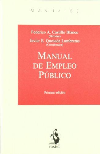 9788498900507: Manual de empleo publico