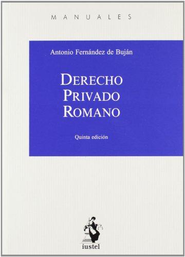 9788498902020: (5ª ed.) derecho privado romano (Manuales (iustel))