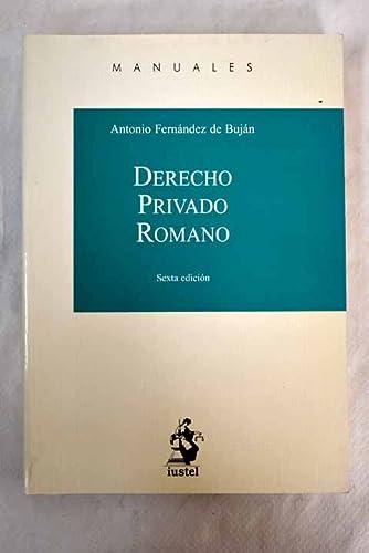 9788498902334: Derecho Privado Romano