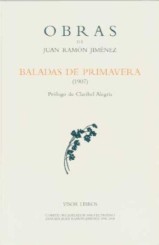 9788498950137: O.C. JUAN RAMON JIMENEZ BALADAS DE PRIMAVERA (1907)