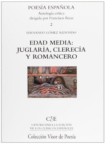 9788498950908: Edad Media: juglaria, clerecia y romancero