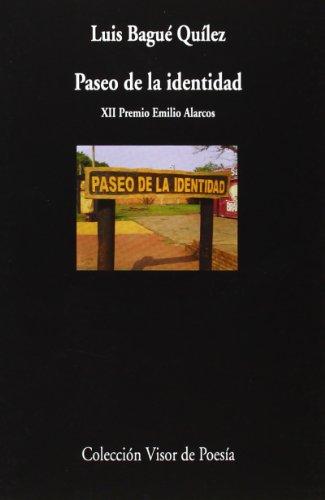 9788498958591: Paseo De La Identidad (Visor de Poesía)