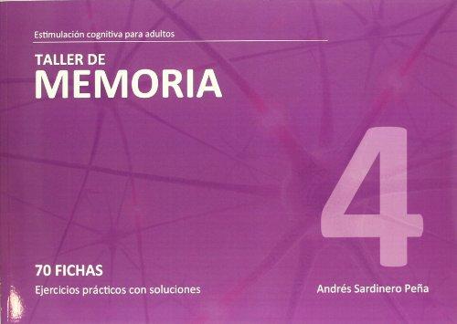 9788498962109: Taller de Memoria 4-Estimulación cognitiva adultos <70 fichas c/ejerc.> (R) (2010)