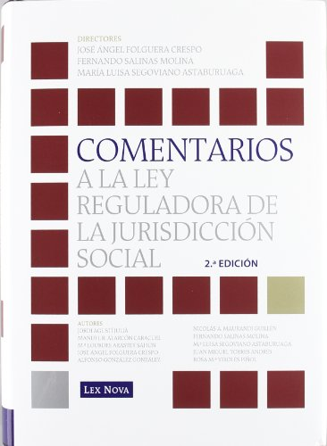 9788498983999: Comentarios a la Ley reguladora de la jurisdicción social