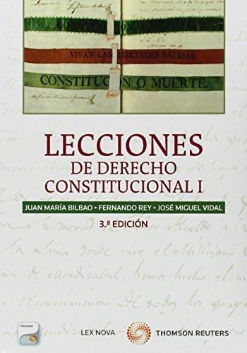 9788498987515: Lecciones de Derecho Constitucional I (Papel + e-book)