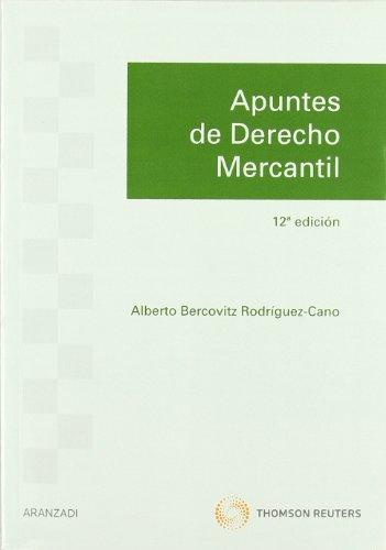 9788499037585: APUNTES DE DERECHO MERCANTIL - 12¦ EDICION(978)