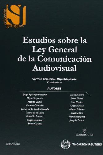 9788499038360: Estudios Sobre La Ley General de La Comunicaciaon Audiovisual