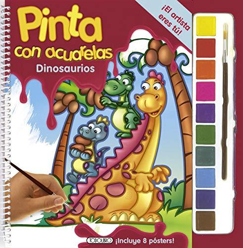 9788499136790: Dinosaurios (Pinta con acuarelas)