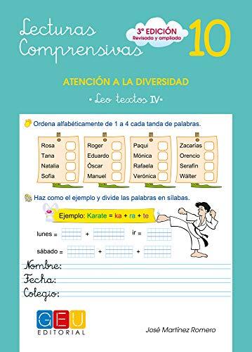 9788499151410: Lecturas comprensivas 10 / Editorial GEU / 3º Primaria / Mejora la comprensión lectora / Recomendado como apoyo / Actividades sencillas