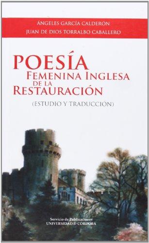 9788499270357: Poesía femenina inglesa de la Restauración