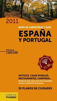 9788499351681: Guia y mapa de carreteras de Espana y Portugal 1:800.000, (2011) - Mapa Touring