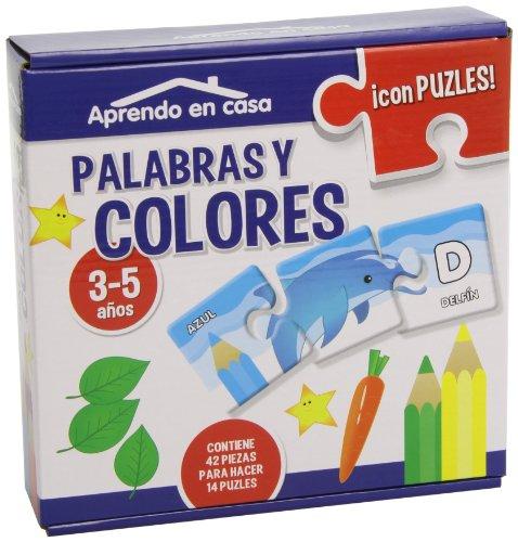 9788499394343: APRENDO EN CASA LAS PALABRAS Y LOS COLORES PUZLES EDUCATIVOS (3-5 años)