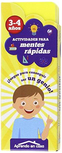 9788499396385: APRENDO EN CASA MENTES RÁPIDAS: Actividades para mentes rápidas. 3 - 4 años: 1