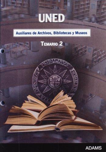 9788499432168: Auxiliares de Archivos, Bibliotecas y Museos, Universidad Nacional de Educación a Distancia (UNED). Temario: Parte de 9788499432151