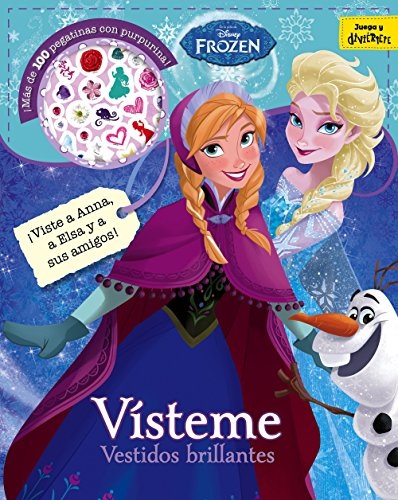 9788499518596: Frozen. Vísteme. Vestidos brillantes: Adhesivos con purpurina (Disney. Frozen)