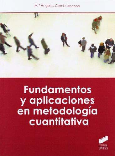 9788499589053: Fundamentos y aplicaciones en metodología cuantitativa