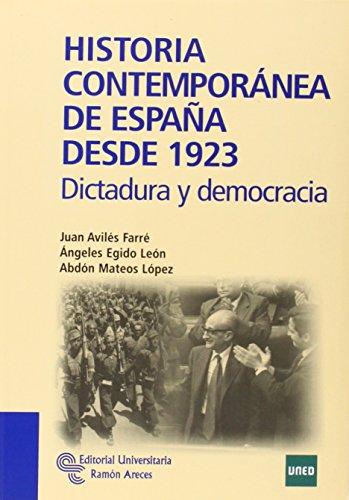 9788499610375: Historia Contemporaanea de Espaana Desde 1923: Dictadura y Democracia