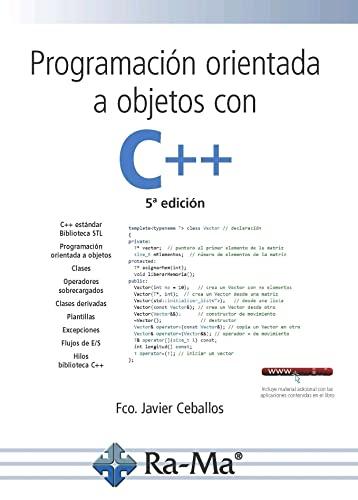 Libro: Programación Orientada A Objetos Con C++.: CEBALLOS SIERRA, FCO.