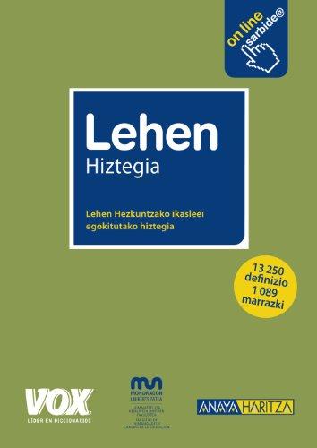 9788499740027: Lehen Hiztegia (Vox - Lengua Vasca)