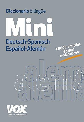 9788499741697: DICCIONARIO MINI ALEMAN/ESPAÑOL